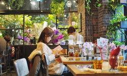 จิบกาแฟท่ามกลางมวลหมู่ดอกไม้แสนสวยกลางกรุงโตเกียว