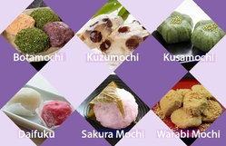 ขนมโมจิหลากหลายชนิดที่เป็นที่นิยมของคนญี่ปุ่น