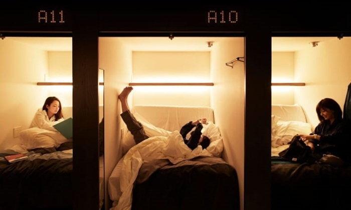 """นอนดูภาพยนตร์ที่โรงแรมแคปซูลระดับพรีเมี่ยม """"THE MILLENNIALS KYOTO"""""""