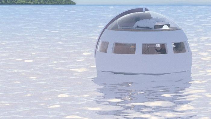 """""""โรงแรมลอยน้ำ"""" สัมผัสประสบการณ์เที่ยวเกาะร้างภายใน 1 คืน"""