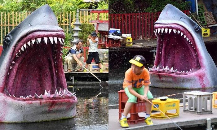 ฉลามบุก! Musashinoen บ่อตกปลาสุดน่ากลัวในกรุงโตเกียว
