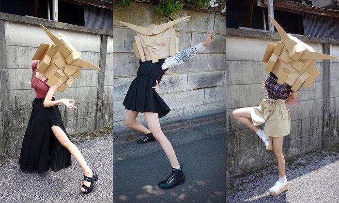 ดังเพราะความแปลก Dundam-chan สาวใส่หน้ากากกันดั้มขายเสื้อผ้า