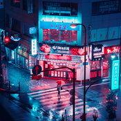 ภาพถ่ายกรุงโตเกียว ยามค่ำคืน