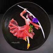 แล่ซาชิมิเป็นผลงานศิลปะ