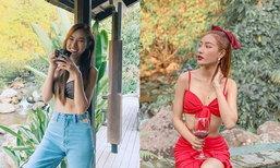 """ນໍ້າກັດຢໍລະປາຕ້ອງສະທ້ານ! """"ເຈນນີ້"""" Miss World Laos 2017 ຮ້ອນແຮງຮັບວາເລນທາຍໃນຊຸດແດງສຸດຈີ໊ດ"""