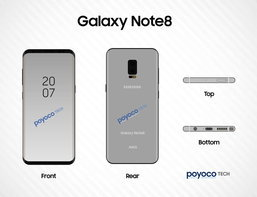 ຫຼຸດພາບຮ່າງ Samsung Galaxy Note 8 ມາພ້ອມໜ້າຈໍ Infinity Display ແບບ Galaxy S8 ຄາດເປີດຕົວເດືອນສິງຫານີ້