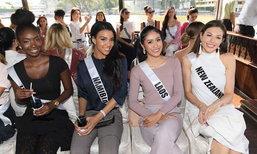 """""""ອອນອານົງ"""" ພ້ອມເຫຼົ່າສາວງາມ Miss Universe 2018 ເຂົ້າໄຫວ້ພະຂໍພອນ ທີ່ວັດພະແກ້ວ ປະເທດໄທ"""