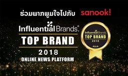 sanook! ຄວ້າລາງວັນ Top Brands ປະເພດບໍລິການຂ່າວອອນລາຍ ປະຈຳປີ 2018 ຈາກ Influential Brands®
