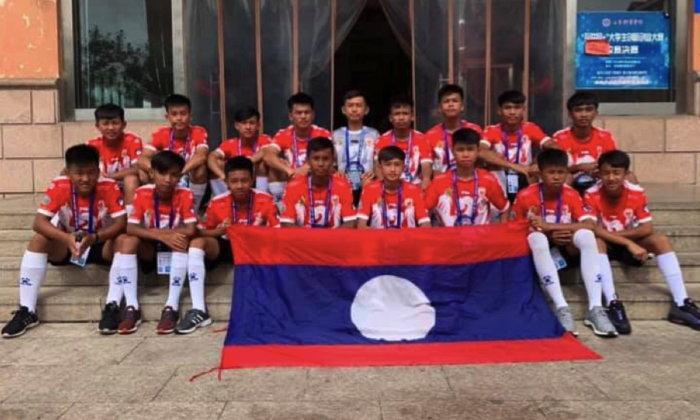 U-14 ດີເຄ ຕົວແທນໜຶ່ງດຽວຈາກລາວ ຖະຫຼົ່ມທີມເຈົ້າພາບ 8-0 ຄວ້າແຊ້ມບານເຕະ China Cup 2019