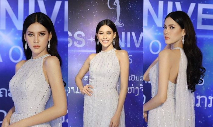 """ຍັງງາມບໍ່ຈາງ """"ນຸ້ຍ ສຸພາພອນ"""" ໃນງານເປີດໂຕຜູ້ເຂົ້າປະກວດ Miss Universe Laos 2019"""