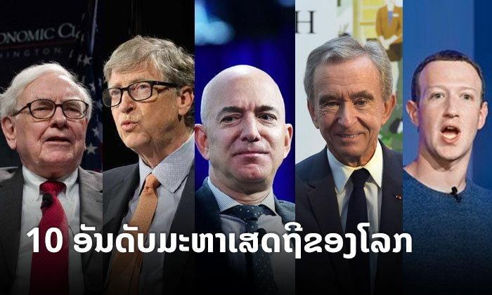 ນີ້ແມ່ນ 10 ອັນດັບ ມະຫາເສດຖີທີ່ຮັ່ງມີທີ່ສຸດໃນໂລກ ຕາມການຈັດອັນດັບຂອງວາລະສານ Forbes