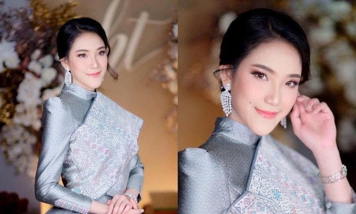 """ຫຼືຈະມີຂ່າວດີໃນໄວໆນີ້? """"ຕິກນໍ້າ"""" Miss World Laos 2018 ງາມແຮງແພງຫຼາຍ ໃນຊຸດງານໝັ້ນ"""