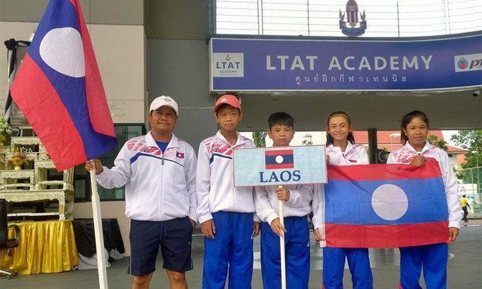 4 ເຍົາວະຊົນລາວ ແຂ່ງຂັນເທັນນິດ ITF TEAM CHAMPIONSHIP 12 ທີ່ປະເທດໄທ