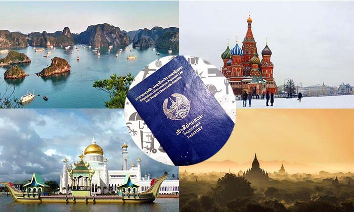 """ເຄົ້າດາວປີໃໝ່ນີ້ Passport ລາວພາໄປທ່ຽວໃສໄດ້ແດ່ໂດຍ """"ບໍ່ຕ້ອງຂໍວີຊາ"""""""