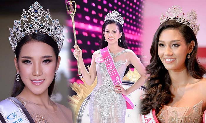 """ສ່ອງ Miss World Laos 2018 """"ກະດຸມເພັດ ໄຊຍະວົງ"""" ແລະ ສາວງາມຕົວແທນຄົນອື່ນໆຈາກຊາດອາຊຽນ"""