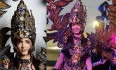"""""""ຄຼິສຕີນາ ລາສະສິມມາ"""" ໃນຊຸດ ສຸດອາລັງການ ຂອງ Solo Batik Carnival Indonesia ນໍ້າໜັກເບົາໆ 15 ກິໂລ"""