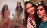 ໜ້າຮັກສຸດ! 'ນຸ້ຍ' Miss Universe Laos ແລະ ເພື່ອນຮ່ວມຫ້ອງ 'ມາຣີຢາ' ເຕັ້ນເພງ Panama