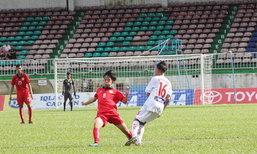 ນັດອຸ່ນເຄື່ອງ Friendly Match ທີມຊາດລາວ U16 ພົບກັບ ສະໂມສອນ ຮອງແອງ ຢາລາຍ
