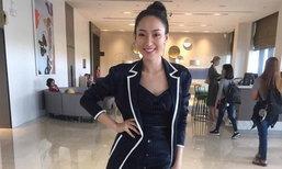 """""""ໝີພູ"""" ເດີນທາງຮອດລາວແລ້ວ ຫຼັງຄວ້າລາງວັນ Miss Fashion ຈາກ Miss Global ມາຝາກຊາວລາວ"""