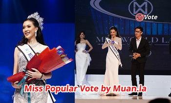 """ນອກຈາກຄວ້າມຸງກຸດແລ້ວ """"ເມ ເນລະມິດ"""" ຍັງໄດ້ລາງວັນ Miss Popular Vote ຈາກ muan.la ອີກດ້ວຍ"""