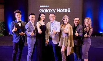 ລູກນໍ້ານຳທັບຄົນດັງເຂົ້າຮ່ວມງານເປີດໂຕ Samsung Galaxy Note8 ຢ່າງເປັນທາງການໃນລາວ