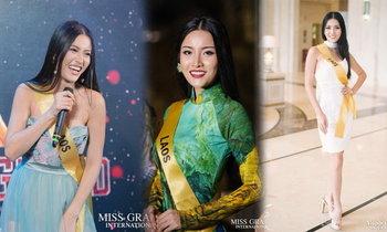 ປະມວນຮູບພາບ ຟ້າໃສ Miss Grand Laos ໃນຊ່ວງເຮັດກິດຈະກໍາ ກ່ອນປະກວດໃຫຍ່ໃນມື້ນີ້