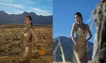 ນຸ້ຍ ສຸພາພອນ Miss Universe Laos ເດີນສາຍຖ່າຍແບບທີ່ Red Rock Canyon State Park ສະຫະລັດ