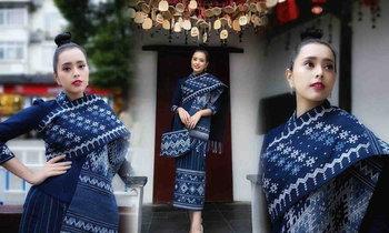 ສ່ອງພາບສາວ ມີມີ່ Miss International Laos 2017 ຮ່ວມງານວາງສະແດງສິນຄ້ານຳເຂົ້າສາກົນຈີນ ທີ່ຊຽງໄຮ