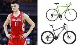 โอ้โห! จักรยานของ เหยา หมิง ธรรมดาที่ไหน
