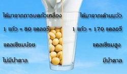 นมถั่วเหลือง กับ นมวัว แตกต่างกันอย่างไร?