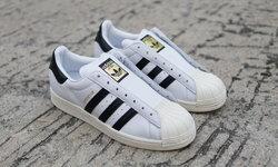 โดดเด่นด้วยคู่สีขาว-ดำ adidas Superstar Laceless รองเท้าผ้าใบระดับตำนาน