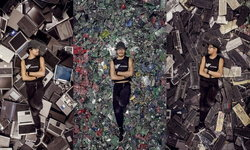 """ช่างภาพแคนาดา เชื้อสายจีน-มาเลเซีย นำ """"ขยะอิเล็กทรอนิกส์"""" เป็นงานศิลปะสุดล้ำ"""