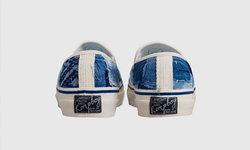 RompboyxLaRocca รองเท้าเน้นการต่อลายผ้า และฝีเข็มที่แตกต่างกัน