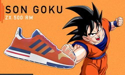 """เผยภาพชัดๆ adidas ZX500 Boost ลวดลาย """"ซุน โกคู"""" ตัวละครเอกจาก Dragon Ball Z"""