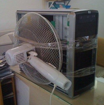 พัดลมระบายอากาศคอมพิวเตอร์พลังเทอร์โบ