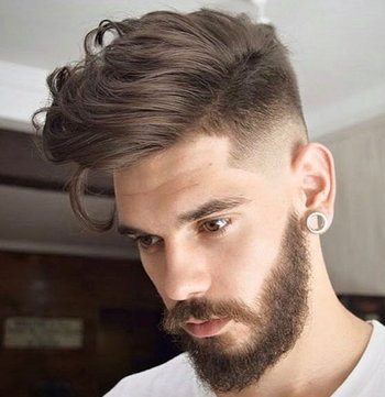 High Fade with Long Hair
