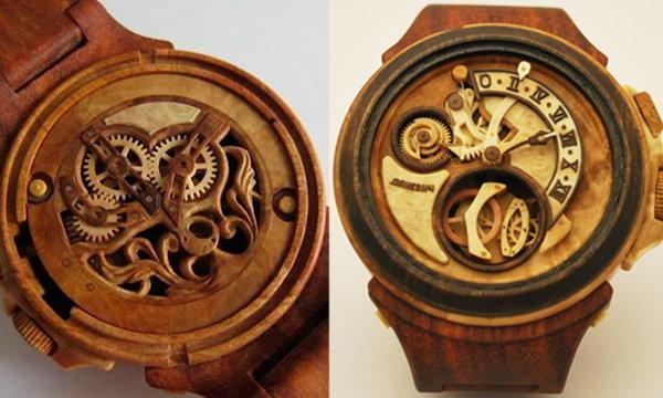 สุดยอดนาฬิกาที่ทำจากไม้ล้วนๆ!!