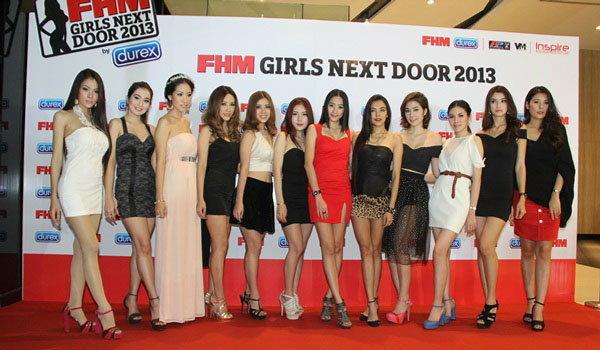 """เปิดตัวแล้ว """"FHM Girls Next Door 2013 by Durex"""""""