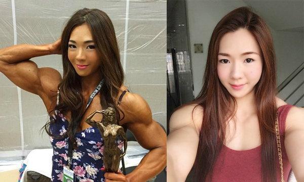 YeonWooJhi นางฟ้านักเพาะกายเกาหลี น่ารักและบึกบึน