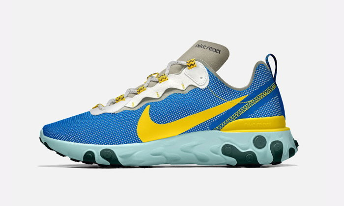 Nike React Element 55 By You เรียบง่ายแต่โดดเด่น