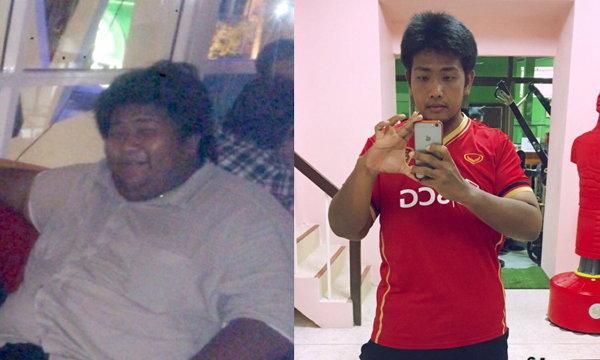 สุดยอดมาก! เปลี่ยนตัวเองจากหนุ่มอ้วนน้ำหนักกว่า 200 กก.สู่น้ำหนัก 95 กก.
