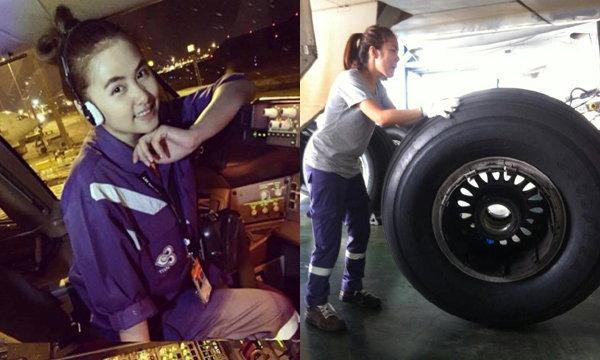 น่ารักมาก ดรีม- เฟิร์น ช่างการบินไทย ที่ทำหัวใจหนุ่มๆ ละลาย