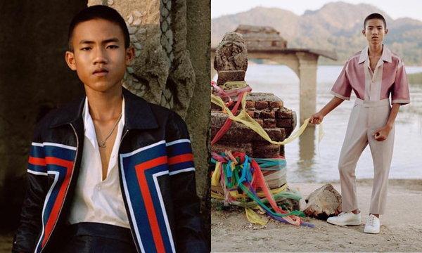 ถูกที่ ถูกเวลา เด็กชายไทย ได้ถ่ายแบบใส่ชุด Louis Vuitton ลง GQ Germany