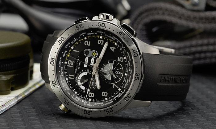 Hamilton รุ่น Chrono Worldtimer เรือนเวลารอบโลกสำหรับนักบิน