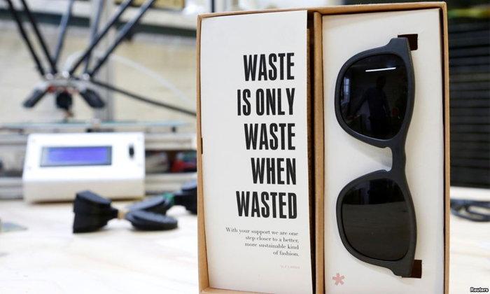"""สุดทึ่ง! บริษัทเบลเยียมเปิดตัว """"แว่นตารีไซเคิล"""" สร้างจากเครื่องพิมพ์สามมิติ"""