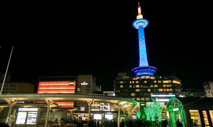 """""""Tower Disco"""" ปาร์ตี้ดูแสงสียามค่ำคืนบนเกียวโต ทาวเวอร์"""