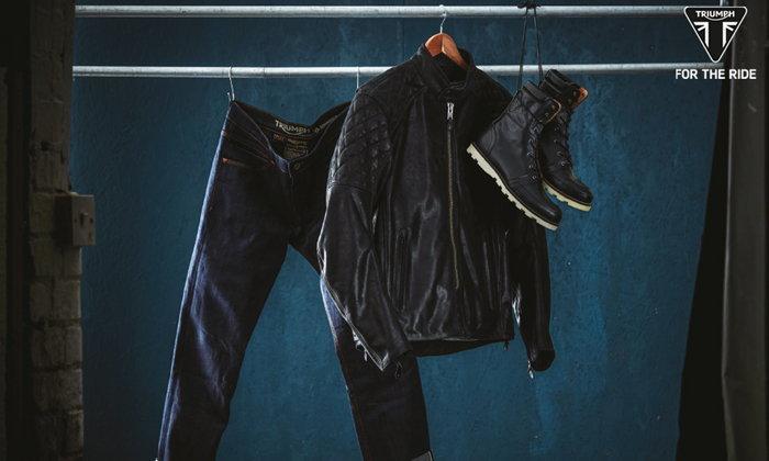 """เสื้อผ้าสไตล์ไบค์เกอร์สุดโดนจาก """"ไทรอัมพ์ มอเตอร์ไซเคิลส์"""""""
