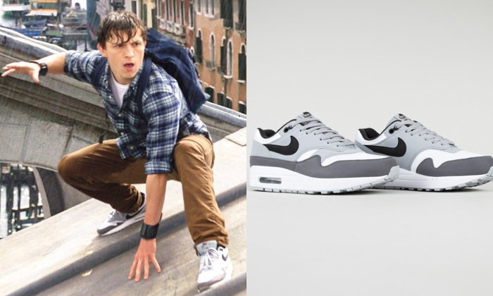 Peter Parker สวมรองเท้าผ้าใบ Nike Air Max 1 ใน Spider-Man : Far From Home