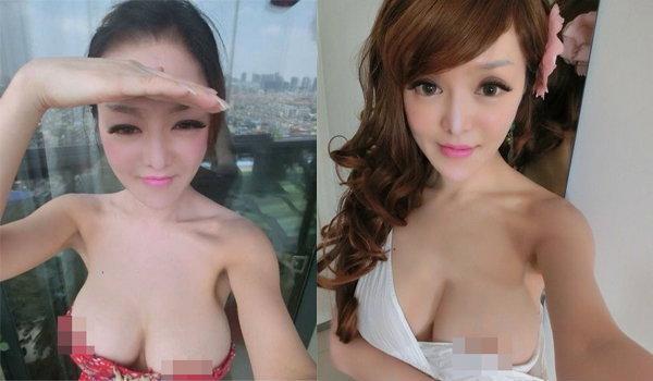 Lin Xin Rui  เน็ตไอดอลจีน ชอบโชว์จุก