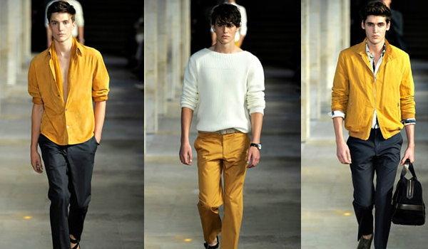 ผู้ชาย กับ แฟชั่นสีเหลือง